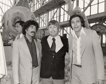 Sid Krofft (l) and Marty Krofft (r) at park opening in Atlanta