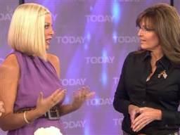 Sarah Palin calls Tori Spelling 'inspiring'